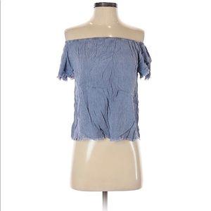 Mustard seed short sleeve blouse